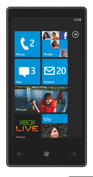 Windows Phone Series 7 Start Screen