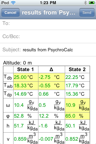 PsychroCalc Screen Shot