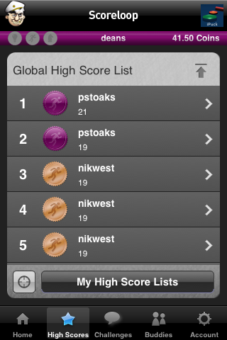 iPuck High Scores Screenshot