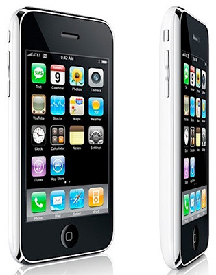 The Beautiful iPhone 3G, front and side